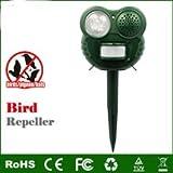 Scaccia uccelli EMETTE suono di mitragliatrice e luce flash lampeggiante. NON E' AD ULTRASUONI