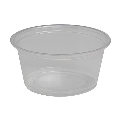 Dixie PP20CLEAR Portion Cup Soufflé Cup, Plastic, 2.0 oz, Clear (Pack of 2400) (Dixie Plastic Cup)