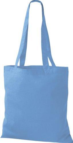 shirtinstyle premium Tela Bolsa Algodón Bolsa Comprador Bolso de Bandolera Muchos COLOR azul surf
