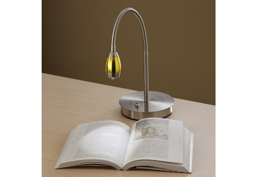 Focused Beam Natural Light Desk Lamp - Gold Shade