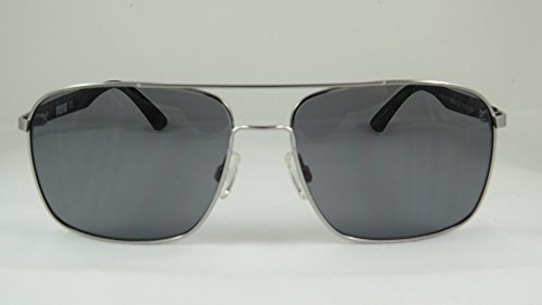 Puma - FLEXSTYLE V1 PU0006S, Geometric, rubber, men, SILVER BLACK/GREY cat.2(003 G), 59/16/135 - Puma Silver Sunglasses