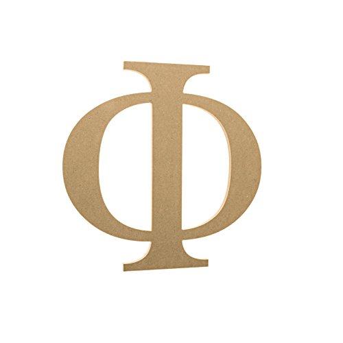 Phi Greek Letter (Greek Gear - Fraternity/Sorority Wooden Greek Letters by JoePaul's Texts (6 inch, Phi))