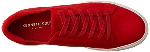 Kenneth Cole New York Kvinna Kam Låg Profil Mocka Mode Sneaker Röda Mocka