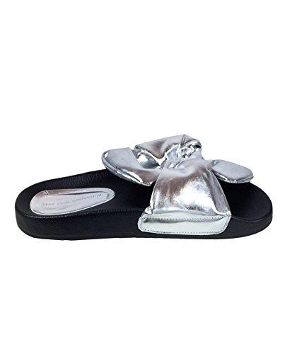 Zara Femme Claques à nœud argent 2620/201