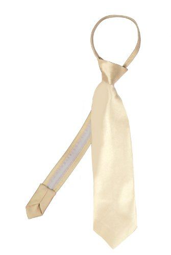 Unotux 23 Color Satin Zipper Necktie Boys Formal Suits Tuxedos from Baby to Teen (M:(5-7), Light Champagne)
