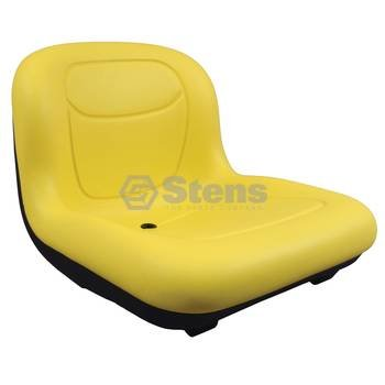 """Stens 420-182 High Back Seat, Used with John Deere Mowers and Tractors, waterproof vinyl, central drain, 15-1/2"""" x 18"""" x 21-11/16"""", Yellow"""