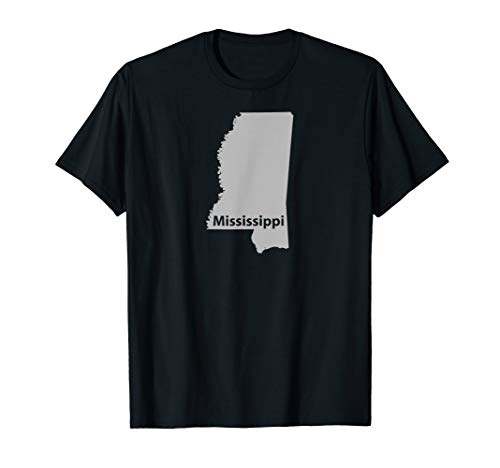 Mississippi Map Outline State Home Pride T-Shirt