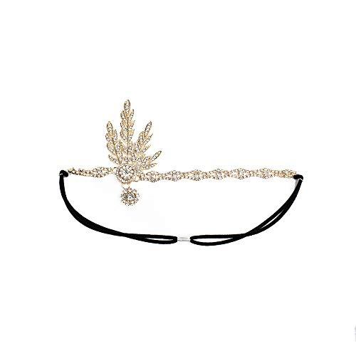 YOMXL Bridal Headpiece Head Chain Jewelry Wedding Tiara Headpieces with Pendant Bling Rhinestone Headband Party Accessoires