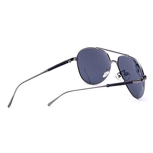 de Color Sol Marco piloto polarizado Mujeres de con Protección para Metal para Primera SunglassesMAN de Calidad Blue Hombre Clásico Gafas de UV400 Conducción Aviador Black Yxsd zqOnga