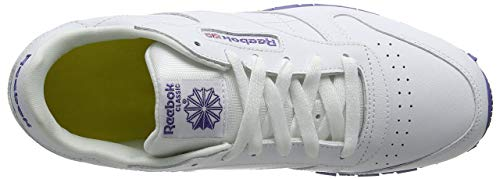 Classic Leather lilac Basses Reebok Shadow lurex Fille Sneakers Blanc white qAw54pnvd5