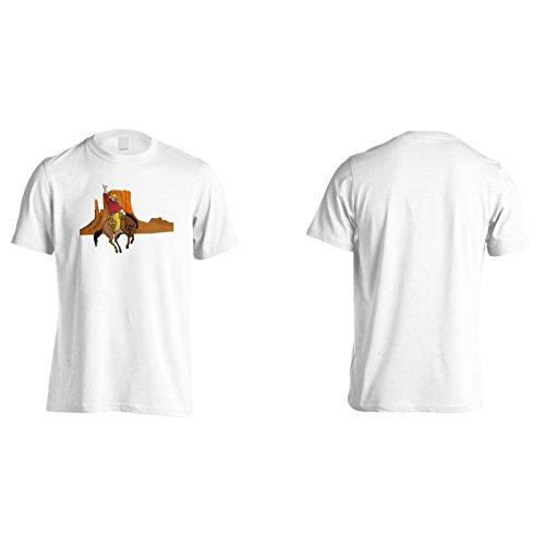 Neue Rodeo Cowboy Und Pferd Herren T-Shirt l566m