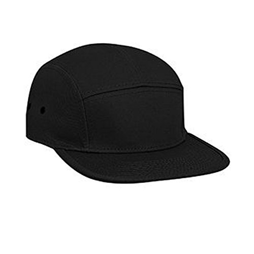 OTTO Superior Cotton Twill Square Flat Visor with Binding Edge Five Panel Camper Style Caps - 5 Panel Twill Structured Cap