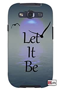 Mystic Sunrise Let It Be Unique Quality Soft Rubber TPU Case for Samsung Galaxy S3 SIII i9300 - White Case