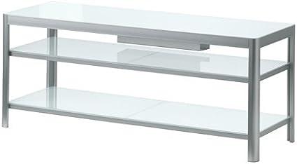 Ikea GETTORP - Mueble TV, Blanco, Aluminio - 120x40 cm: Amazon.es: Hogar