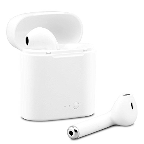 Hexdeer Wireless Headset Microphone, White Earbuds