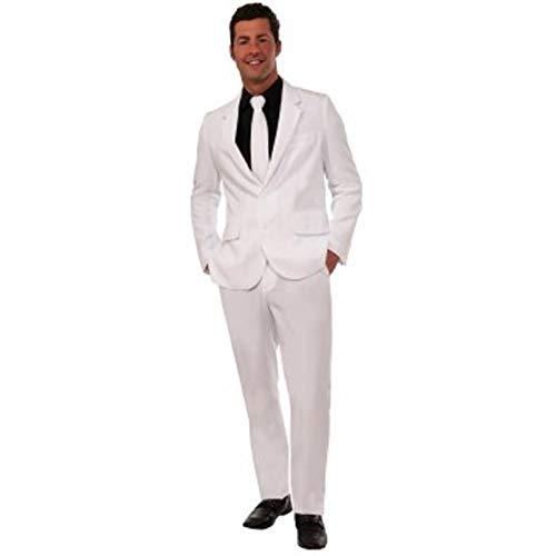 Forum Novelties Men's Suit and Tie Costume, White, Standard ()