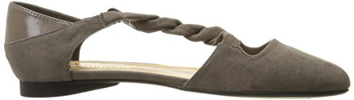 Callisto Calzado gamuza ballesta de gris de mujer plano para qXrX71P