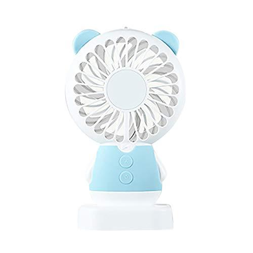 (Pinleg Fan Portable Handheld Cooling Colorful LED Handheld USB Rechargeable Electric Mini Handheld Fan Desk Fan Small Personal Portable Stroller Table Fan (Blue B))