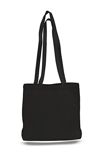 BagzDepot (1-piece) Sturdy Large Size Canvas Value Messenger Tote bag with Bottom Gusset ()