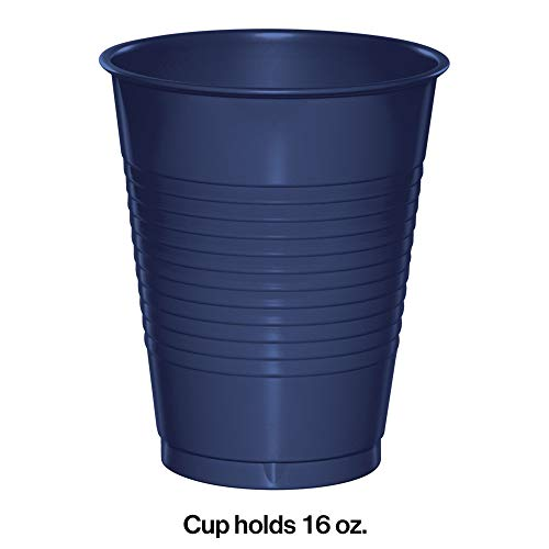 Creative Converting 28113781 Plastic Cups, 16 oz, Navy (20 Count)