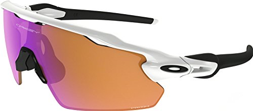 Oakley Men's Radar Ev Pitch Non-Polarized Iridium Rectangular Sunglasses, Polished White, 38.01 - Milestone Oakley