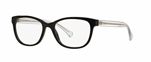 COACH Eyeglasses HC 6072 5327 Black Glitter/Crystal - Eyewear Coach Prescription