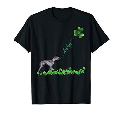 (Lucky Great Dane Dog Shamrock St Patrick day shirt for Women)