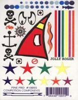 Jolly Roger Pirate Decals (D)