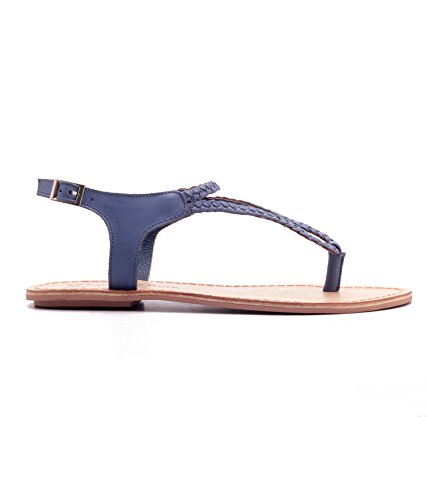 4b6c8de1fd20 Naughty Walk Ladies Leather Ankle Strap Blue Flats Fashion Sandals for  Women Girls  Buy Online at Low Prices in India - Amazon.in