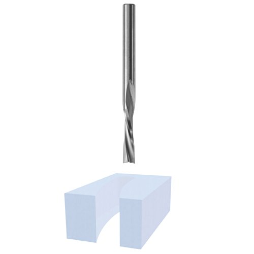 Bosch 85611M 1/4 In. Solid Carbide Double Flute Acrylic Router Bit