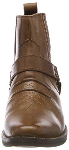 Mens Cowboy Biker Kk4 Da In Uomo Stivaletti Stivali Footwear Tan Kick Boots Pelle 0qwpatEtx