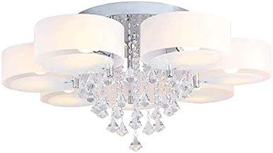 3-flammig RANZIX LED E27 Acryl Kristall Deckenlampe H/ängeleuchte Kristall Deckenlampe RGB Licht mit Fernbedienung f/ür Flur Schlafzimmer K/üche Esszimmer Wohnzimmer Lampe