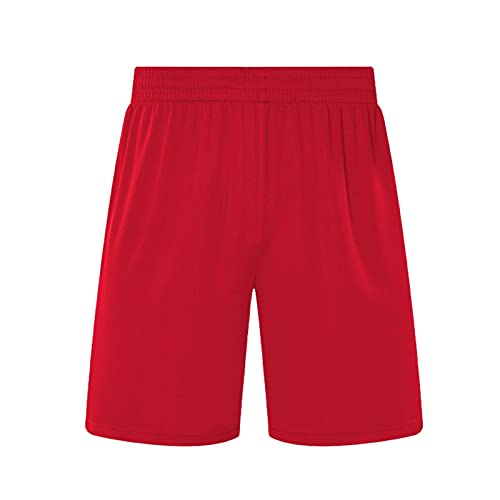 LSTGJ Mannen Voetbal Shorts Sport Running 2 In 1 Fitness Shorts Training Sneldrogende Gym Shorts Gym (Kleur: Rood, Maat…