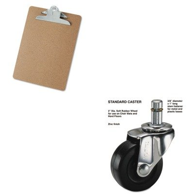 KITMAS32001UNV40304 - Value Kit - Master Caster Standard Casters (MAS32001) and Universal 40304 Letter Size Clipboards (UNV40304)
