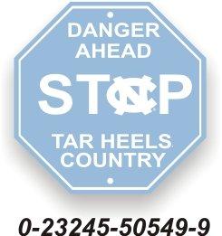 North Carolina Street Sign - University of North Carolina Tarheels Stop Sign NCAA
