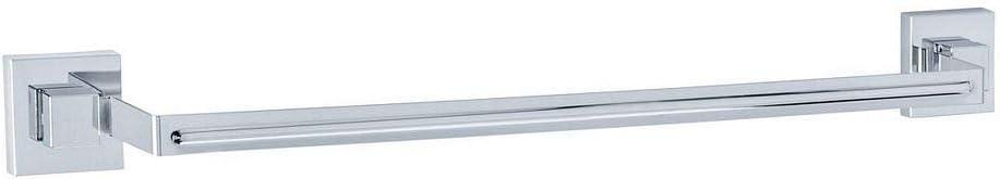 """WENKO Vacuum-Loc Quadro 24"""" Towel Rail, Chrome"""