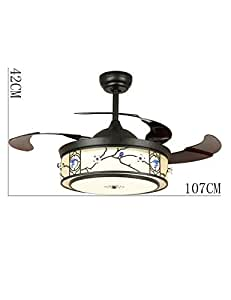 Amazon.com: Ventilador de techo con luces LED invisibles ...