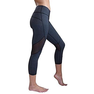 Yoggir Mesh Capri Yoga Pants Women's Workout Leggings by free shipping