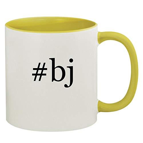 #bj - 11oz Hashtag Ceramic Colored Inside & Handle Coffee Mug, Yellow