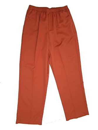Alfred Dunner Autumn Collage Elastic Waist Pants Clay 16W M