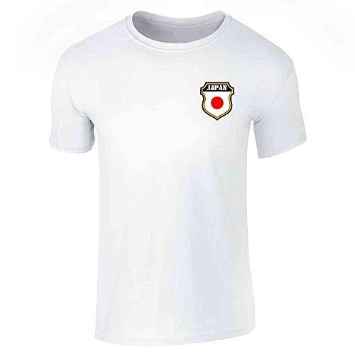 Japan Soccer Retro National Team White S Short Sleeve T-Shirt