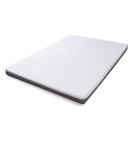 wavve 3 Inch Gel Infused Memory Foam Mattress Topper, Ventilated 2-Layer Design with Removable Cover for All Seasons, Full