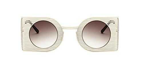 du Thé de inspirées retro cercle rond métallique en style Asymptotique Lennon lunettes vintage polarisées soleil qIwCq1U