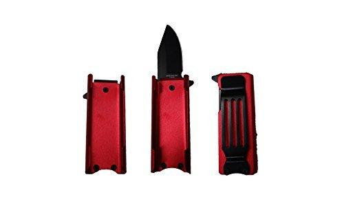 KS Lighter Holder With Spring Assist Knife Lighter Case (Lighter Not Included) (Red)