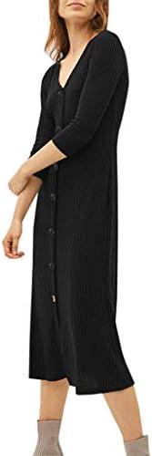 無地 タイト ロングドレス マキシワンピース レディース Kohore 7分袖 ボタン付き ゆっくり 花柄 Aライン スカート