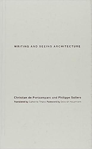 Lataa kirja tietokoneellesi Writing and Seeing Architecture PDF by Christian de Portzamparc