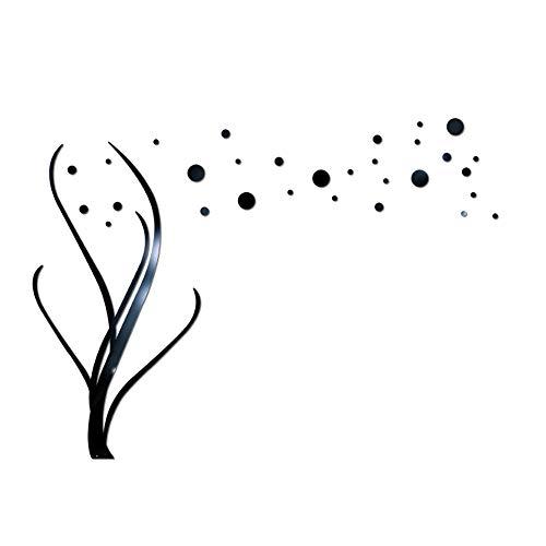 Clearance Sale!DEESEE(TM)3D DIY Flower Shape Acrylic Wall Sticker Modern Stickers Decoration (Black) ()