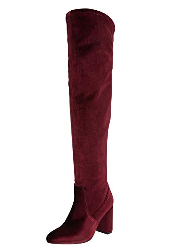 - Comfortview The Trisha Wide Calf Boot - Burgundy, 7 1/2 W