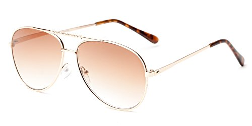 Readers.com The Conrad Sun Reader +2.00 Gold with Amber Classic Aviator Reading Sunglasses Reading - Aviator Reading Sunglasses