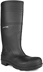 Acton, Function (A4141-11) | Black Waterproof PVC Boots | Manure and Oil Resistant Outsole | Ultra Lightweight